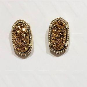 Kendra Scott Ellie Gold Druzy Stud Earrings